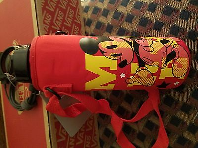 Disney, Mickey Mouse Water Bottle with Neoprene Cover