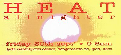 HEAT Rave Flyer Flyers A5 Year Unknown Lydd Watersports Centre