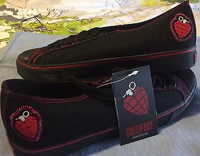 DRAVEN SHOES Green Day -Black. Shallow Lace Up. Unisex (men's 10). New With Tags