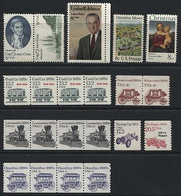 United States: small collection of 21 unmounted mint stamp (duplicated) KK016