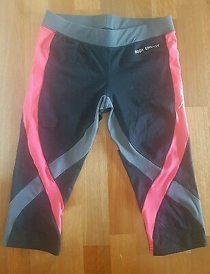 Black and Orange Blockout Workout Tights size m