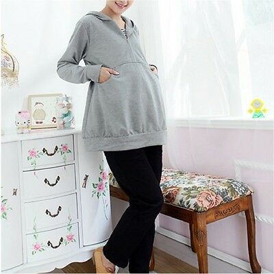 BRAND NEW Super Stylish Grey Nursing Breastfeeding Sweatshirt Hoodie Size 12