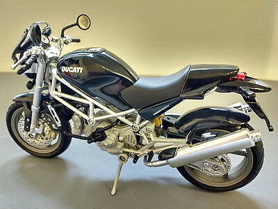 Ducati Monster S4 Black - 1/12 scale diecast model - New boxed