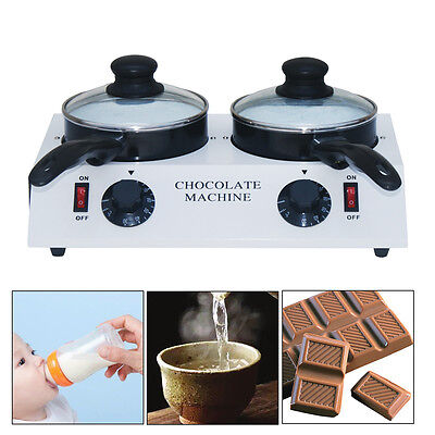 Double Chocolate Tempering Cylinder Melting Melter Pot Stainless Steel 220V AU