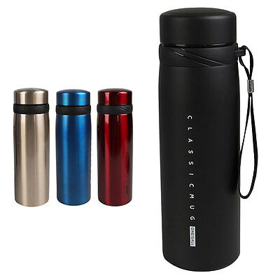 Vacuum Cup Sport Coffee Water Bottle Flask Thermal Insulated Mug Travel 650ML