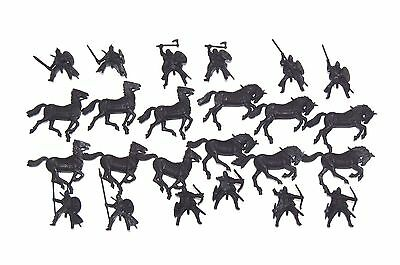 Warhammer LOTR The Hobbit 12 Riders of Rohan Undercoated Black Lord of the Rings