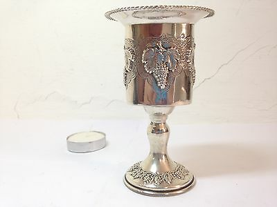 Judaica silver havdalah candle holder HAZORFIM