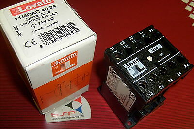 Lovato Control Relay 24V Dc Part No. 11Mcac 40