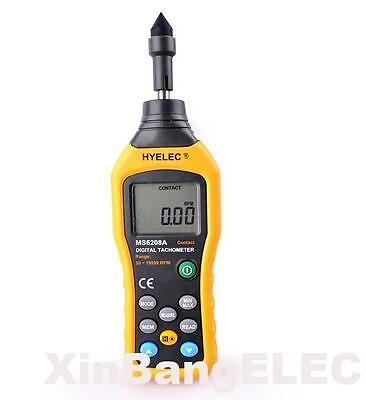 High quality Contact-type Digital Tachometer Meter 50-19999RPM