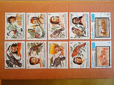 1987 Latin American History Full Set of 10 Cancelled Stamps