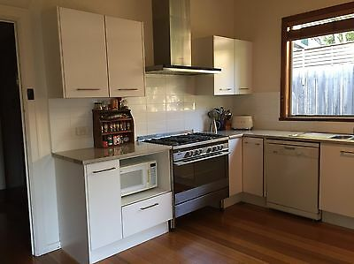 Complete kitchen cupboards and bench from Freedom plus Blanco sink