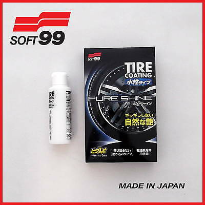 Soft99 Tire Coating Pure Shine Water-Based - Without Petroleum - (Made In Japan)