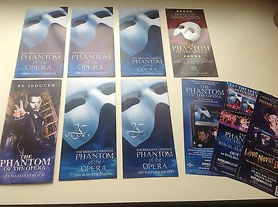 7 x Different flyer THE PHANTOM OF THE OPERA