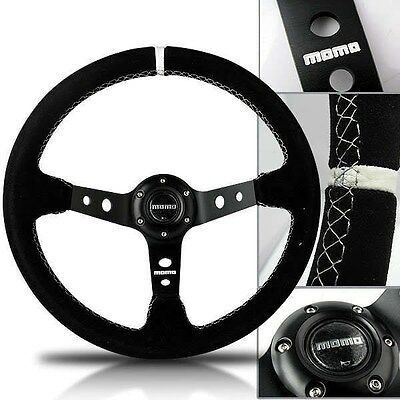 "350mm Corsica Drifting 4"" Deep Dish Suede Leather Sport Racing Steering Wheel"