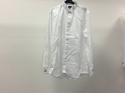Mens White Wing Marcella Stud Button Formal Dress Shirt Size 16 1/2 - 8A10