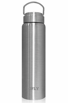 Stainless Steel Water Bottle 0.75L Double Walled Vacuum Insulated Hiking Travel