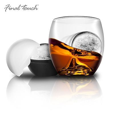 Final Touch On The Rock Brandy Whiskey Glass Tumbler & Ice Ball