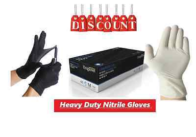 Unigloves Powder Free Commercial Black Nitrile And White Latex Gloves