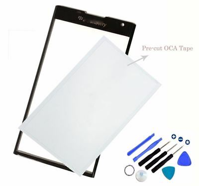 New OEM Front Screen Glass Panel Lens Replacement For Blackberry Priv+OCA Tape