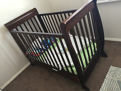 Sleigh Cot Excellent Condition With Draw Mattress And Toddler Bed