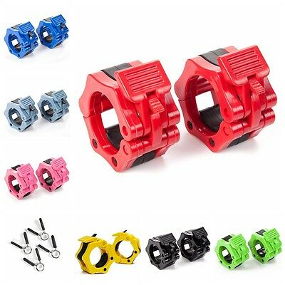 """2"""" Olympic Spinlock Collars Barbell Dumbell Clips Clamp Weight Bar Locks Fitness"""