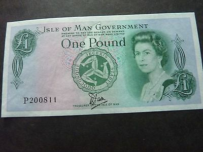 £1 Isle Of Man  Uncirculated  Bank Note   - P 200811- Cashier  Dawson