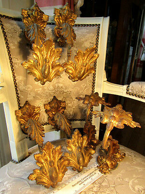 Three Large Pairs of French  Solid Gilt Cast Bronze Curtain Holdbacks/Tiebacks