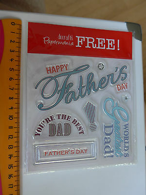 """planche tampons """"FETE DES PERES"""" - scrapbooking, carterie, neuf -"""