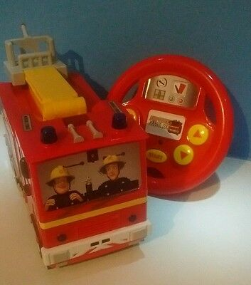 Fireman Sam Jupiter Drive and Steer Remote Controlled Fire Engine Immaculate