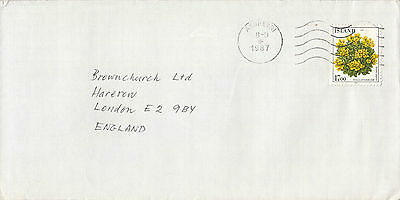 D 1293 Iceland Cover 1987 from Akureyri to UK