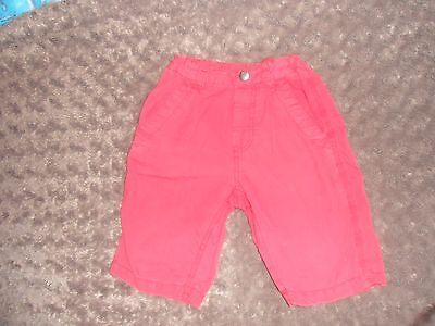 Boys Red Shorts H & M 5-6 Years