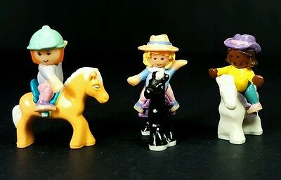 ☆COMPLETE☆ Happy Horses 1994 Polly Pocket Vintage Retro Mini Doll Figure