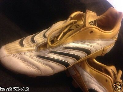ADIDAS US 5 UK 4.5 Gold White Yellow Black Rugby League Union Footy Boots Shoes