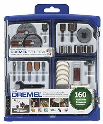 Dremel 710-08 160-Piece All-Purpose Rotary Accessory Kit Hand Tool Wall Hook New