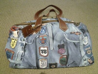 RARE Paul Smith Limited Blue Retro Style Travel Bag With Leather Tag As NEW
