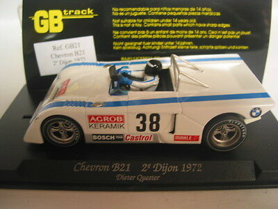 Fly Gb Track Gb21 Chevron B21 2 Dijon 1972 #38 White Mint Boxed Collectable
