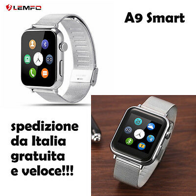 SMART WATCH A9 orologio silver iOS Android nuovo CINTURINO SILVER smartwatch