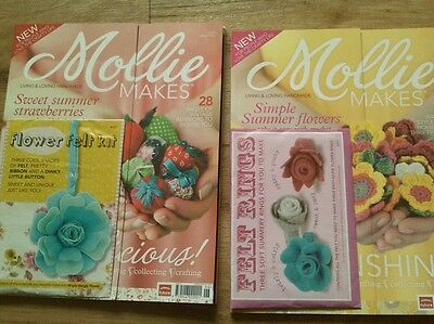 Mollie Makes issue 1 & 2 with cover kits.