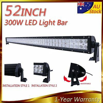 "52"" LED LIGHT BAR Fog Work Driving Lamp Jeep SUV ATV Truck 4WD 300W Combo Beam"