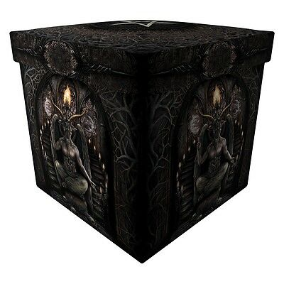 Baphomet Ottoman - Storage Footstool By Nemesis Now
