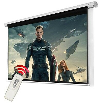 Presentation Projector Screen Home Cinema HD TV Matt White Washable 100'' 4:3