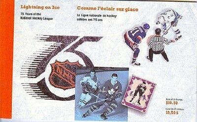 CANADA 1443a-1445a - NHL 75TH ANNIVERSARY - 25 VALUES BOOKLET - CPL (SKU7402)