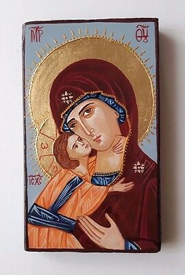 Hand painted icon-Blessed Virgin Mary with Baby Jesus