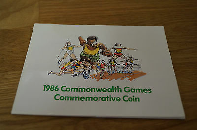 1986 commonwealth games commemorative 2 pound coin uncirculated