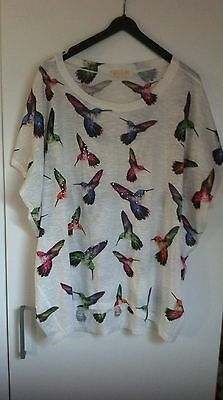 Qed London Womens Butterfly Top - Size M/L