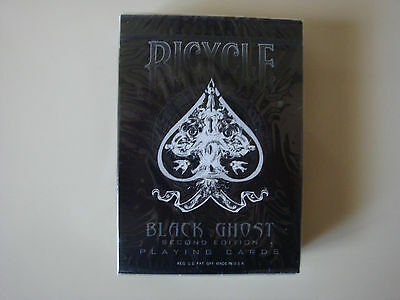 Bicycle Black Ghost Deck 2Nd Second Ed. Playing Cards Ellusionist Magic Tricks