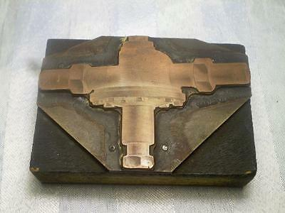 E&S FED Old Copper Printers Block Industrial Tap / Valve