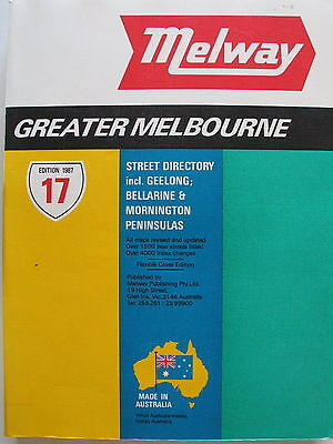 Melway street directory - Melbourne 1987 - Edition 17