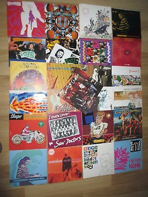 """A Collection Of 25 Uk Indie 7"""" Singles W/pic Sleeves - Some Scarce Titles Here."""