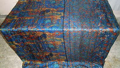 Multi-color Pure Silk 4 yard Vintage Sari Saree Festive global store Home #OEE1B